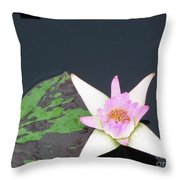 Pink And White Lily Throw Pillow