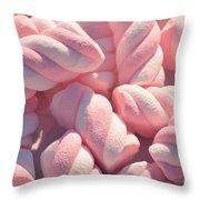 Pink And White Marshmallows Throw Pillow