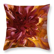 Pink And Yellow Fantasy 1 Throw Pillow