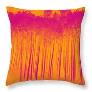 Pink Aspen Trees Throw Pillow