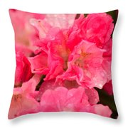 Pink Azalias Throw Pillow
