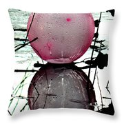 Pink Balloon Reflecting Throw Pillow