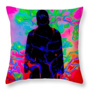 Pink Black And Red Throw Pillow