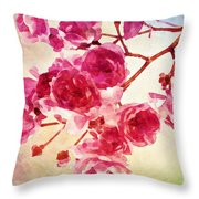 Pink Blossom - Watercolor Edition Throw Pillow