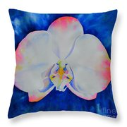 Pink Blush Orchid Throw Pillow