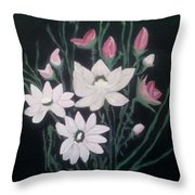 Pink Bouquet Throw Pillow