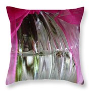 Pink Bowed Glass Throw Pillow