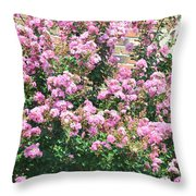 Pink Bush Throw Pillow