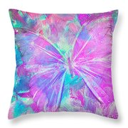 Pink Butterfly By Jan Marvin Throw Pillow