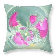 Pink California Poppy Orb Throw Pillow