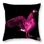 Pink Canada Goose Pop Art - 7585 - Bb  Throw Pillow