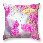 Pink Cascade Of Bougainvillea Throw Pillow
