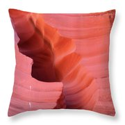 Pink Cleft II - Antelope Canyon Throw Pillow