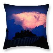 Pink Cloud Over Lexington Throw Pillow