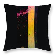 Pink  Color Splach Abstract Art  Throw Pillow by Ann Powell
