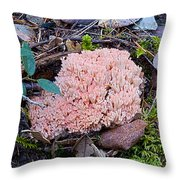 Pink Coral Throw Pillow