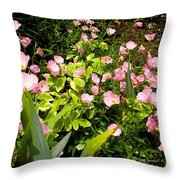 Pink Cosmos Swirl Throw Pillow