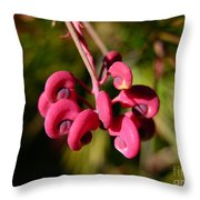 Pink Curls - Flower Macro Throw Pillow