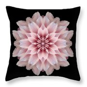 Pink Dahlia Flower Mandala Throw Pillow by David J Bookbinder