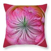 Pink Dahlia Orb Throw Pillow