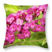 Pink Delphinium Throw Pillow