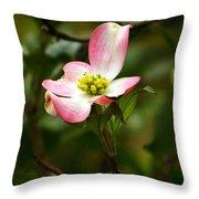 Pink Dogwood 2 Throw Pillow