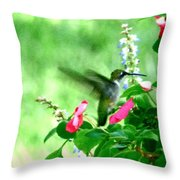 Pink Enticement Throw Pillow