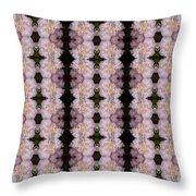 Pink Floral Pattern Throw Pillow