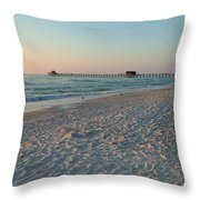 Pink Florida Sands Throw Pillow