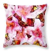 Pink Flowers 2 Throw Pillow
