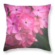 Pink Flowers Throw Pillow
