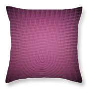 Pink Fractal Background Throw Pillow