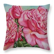 Pink Frillies Throw Pillow