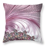 Pink Froth A Fractal Abstract Throw Pillow