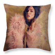 Pink Fru Fru  Throw Pillow