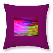 Pink Fusion Throw Pillow