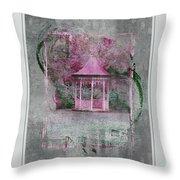 Pink Gazebo Throw Pillow