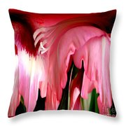 Pink Gladiolas Abstract Throw Pillow
