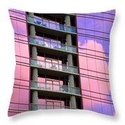 Pink Glass Clouds Throw Pillow