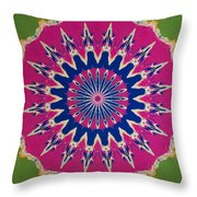 Pink Green Blue Abstract Throw Pillow
