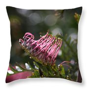 Pink Grevillea Throw Pillow