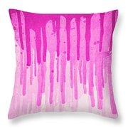 Pink Grunge Color Splatter Graffiti Backstreet Wall Background  Throw Pillow
