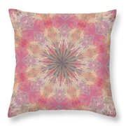 Pink Healing Mandala Throw Pillow