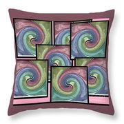 Pink Healing Throw Pillow