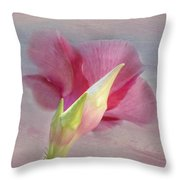 Pink Hibiscus Flower Throw Pillow