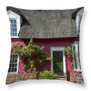 Pink House Throw Pillow