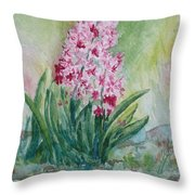 Pink Hyacint Throw Pillow