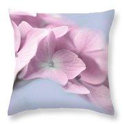 Pink Hydrangea Flower Macro Throw Pillow