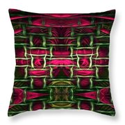 Pink Illusion Throw Pillow