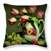 Pink In A Pitcher Throw Pillow
